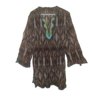 BCBGMAXAZRIA Women's Woven Tunic Top Blouse